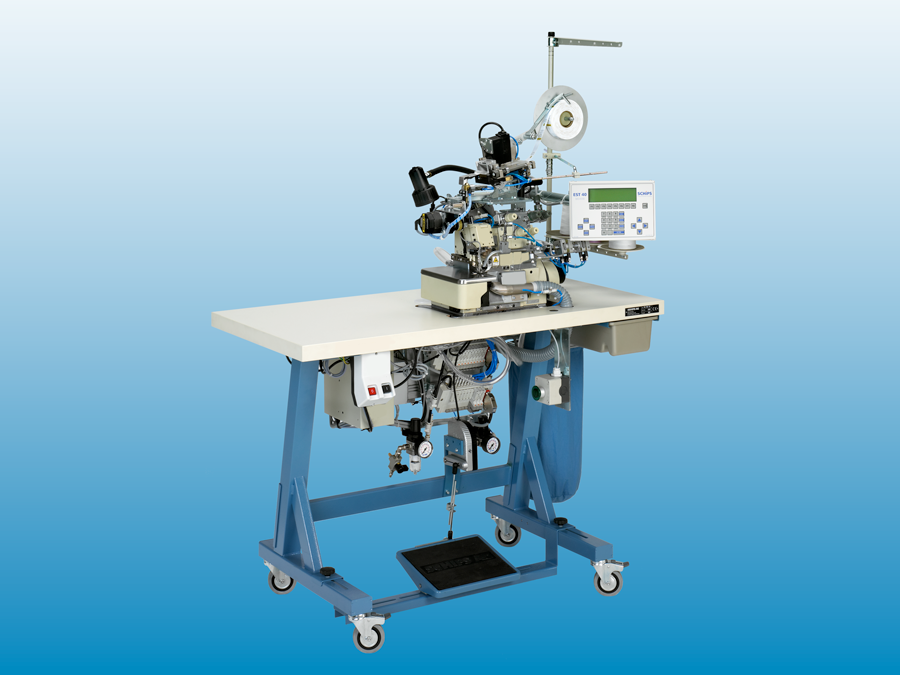Overlock workstation with back-latch, sewing automats
