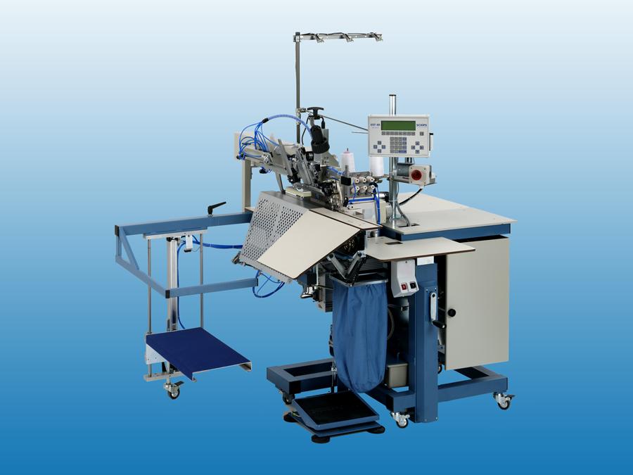 Overlock short seam automat with back-latch, sewing automats