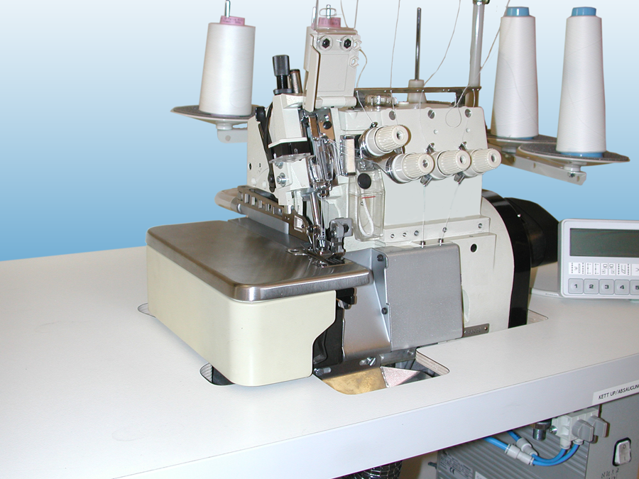 2-needle flat bed overlock sewing workstation, sewing automats